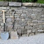 Dry stone wall flat cope