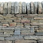 Dry stone wall, sandstone