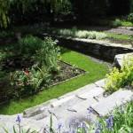 Random image: Sunken garden pond
