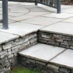 Paved stone steps