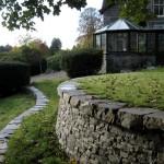 Circular terrace retaining wall