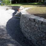 Curved coutyard wall
