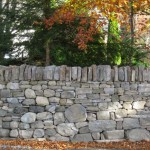 Dry stone wall end
