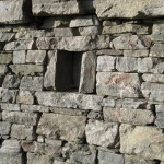 Terrace wall corbie hole