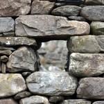 Dry stone pocket.